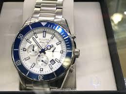 watch bulova marine star stainless steel chronograph watch