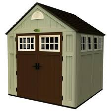 Small Picture Suncast Blow Molded Storage Shed 7 Feet x 7 Feet BMS7775