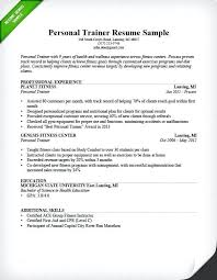 Resume For Personal Trainer Extraordinary Personal Trainer Cv Example Uk Resume Beginner Sample Letsdeliverco