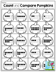 Count and Compare Pumpkins with Ten Frames!: | compare numbers ...