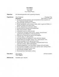 Bartender Resume Example Template Lezincdc Com