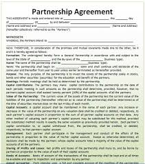 Business Partnership Contract Sample - Arch-Times.com