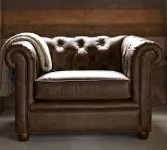 leather chesterfield chair. Detailed View; Alternate View Leather Chesterfield Chair Pottery Barn