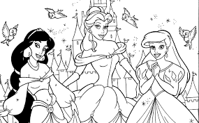Small Picture Simple princess color sheet adult coloring page disney princess