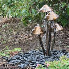 small solar powered water feature