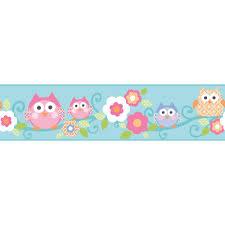 owl branch whimsical wallpaper border ks2213bd