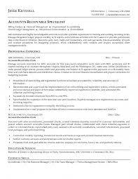 Accounts Receivable Specialist Resumes Accounts Receivable Clerk Resume Resumes Pinterest Sample