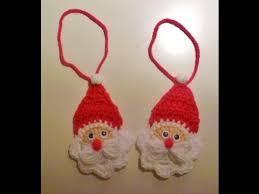 Weihnachten Nikolaus Häkeln Weihnachtsmann Anhänger Santa Claus Baumanhänger