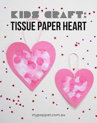 let s make a tissue paper stained glass heart