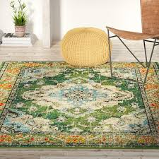 bungalow rose annabel green area rug reviews wayfair throughout rugs inspirations 2