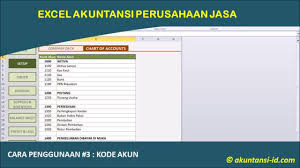 Excel Akuntansi Perusahaan Jasa 3 Pengisian Kode Akun