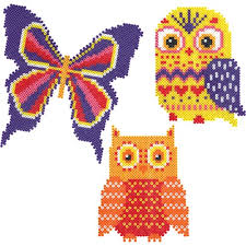 Mini Perler Bead Patterns Fascinating Mini Beads Owls And Butterfly