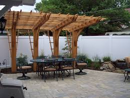 Cantilever Pergola Design Ideas Pictures Cantilever Pergola Over Unilock Paver Patio Outdoor
