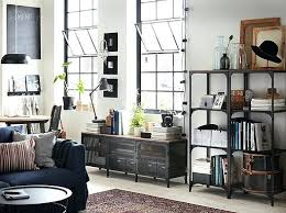 shelving furniture living room. A Living Room With Shelving Units And Bench In Black Metal Wood Ikea Shelves Storage Ideas Furniture W