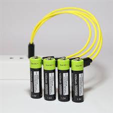 <b>ZNTER 4PCS/set AA Rechargeable</b> Battery 1.5V 2A 1250mAh USB ...