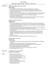 Manager Facility Resume Samples Velvet Jobs
