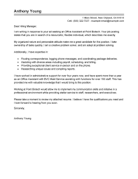 Cover Letter For Office Assistant Resume Builder
