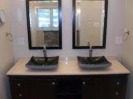 bowl bathroom sinks kohler vessel sink double bowl and two mirror porcelai table