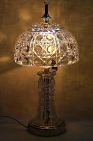 crystal lamp shade crystal glass lamp crystal glass lamp shades vintage heavy clear table vase base