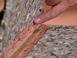 carpet nail strips. use a spacer to determine how high place strips carpet nail