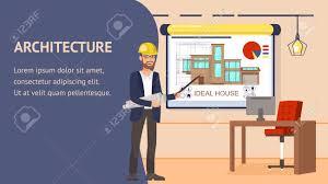 Office Banner Template Architecture Design Website Vector Banner Template Modern Office