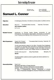 Internship Resume For College Students Guide 20 Examples Samples