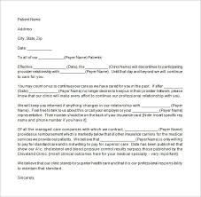 termination letter template 9 patient termination letter templates free sample example