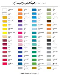 Oracal 631 Color Chart Adhesive Vinyl For All Your
