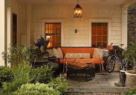 black wicker furniture cottage deck