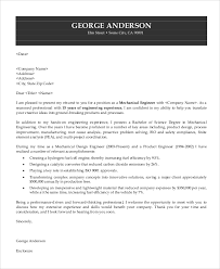 7 Sample Engineering Cover Letters Sample Templates