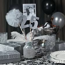 Wedding Anniversary Party Ideas 25th Anniversary Party Mason Jar Centerpiece Idea