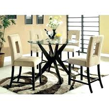 36 inch dining table round glass set di