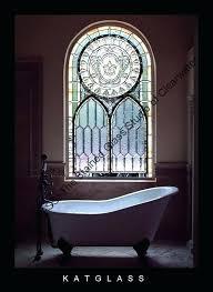 stained glass bathroom window the studio of uk