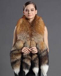 real fur coat jacket red fox fur shawl sku ffshfo913 variety of fur