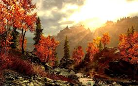 autumn mountains backgrounds. Art Painting Forest Autumn Mountains Picture Beautiful Wallpaper Backgrounds T