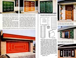Contemporary Mid Century Modern Garage Doors With Windows And Mad For Decor