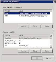 the tns admin environment variable
