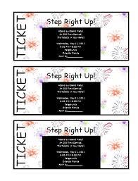 Invitation Ticket Template Ticket Invitation Template Free Printable Word Templates 98