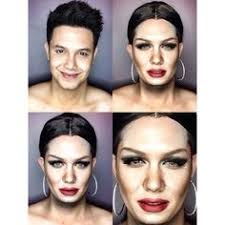 one man skillfully applies makeup to transform himself into diffe celebrities