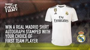 Royal fans, wear your pride in dream league soccer. Real Madrid C F On Twitter Win The Realmadrid Home Shirt Autograph Stamped By A First Team Player Dugout Https T Co Ghioboujoh
