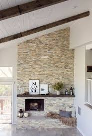 25 best raked ceiling ideas on for adorable stacked stone tile fireplace