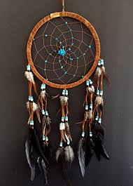 Who Sells Dream Catchers Unique Amazon Dream Catcher DreamCatcher BROWN SUEDE WITH TURQUOISE