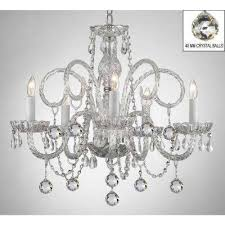 murano empress crystal 5 light chandelier with faceted crystal
