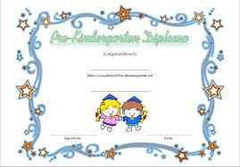 Pre Kindergarten Diploma Certificate 3 Best 10 Templates