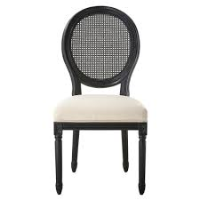 home decorators collection jacques antique black oval back side chairs set of 2