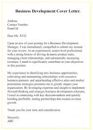 Experienced Professional Cover Letter Free Sample Business Development Cover Letter Templates