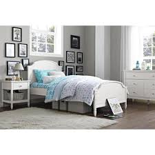 Dorel Living Vivienne Twin Size Wooden Bed Frame in White FH1010TB ...