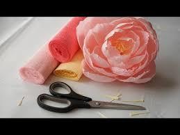 Peony Paper Flower Diy Decorating Idea Paper Peonies Crepe Paper Crafts