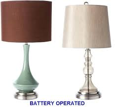 battery powered lamps battery powered led lamps home battery operated cordless table lamps items in the