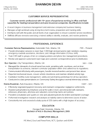 resume sample for customer service representative csr resume .